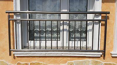 Französischer Balkon V2A Edelstahl Stabgeländer Balkon Fenster Gitter Geländer