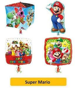 SUPER-MARIO-Bros-FOIL-BALLOONS-SuperShape-Kids-Birthday-Party-Latex-Nintendo
