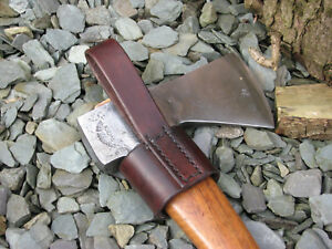 handmade leather belt loop for gransfors bruks small forest axe ebay