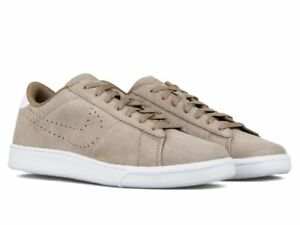 brand new 0c8f6 77860 Image is loading NIKE-TENNIS-CLASSIC-CS-SUEDE-Khaki-White-Sneakers-
