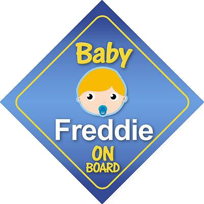 Abile Baby Freddie On Board Segnale Auto * Scelta Di Colori Per Capelli *-