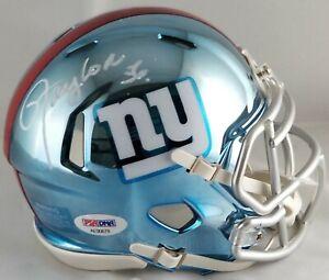 finest selection 6dcc2 34bb8 Details about Lawrence Taylor autographed signed Chrome mini helmet NFL New  York Giants PSA