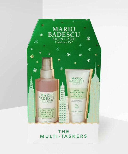 Mario Badescu The Multi Taskers Rosewater Facial Spray Xl 236ml Hand Cream 85g