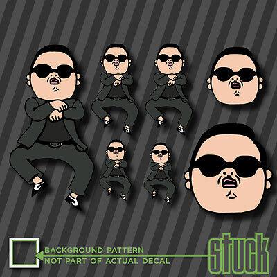 Oppan Gangnam Style parody poopin funny vinyl decal sticker psy rap meme jdm