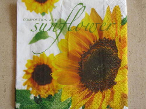 4 Servietten Sonnenblumen