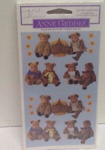 ANNE-GEDDES-BABIES-Teddy-Bears-STICKERS-SCRAPBOOKING-NEW-SEALED-2-pk