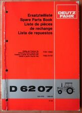 Deutz Fahr Schlepper D 6207 Ersatzteilliste
