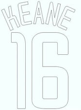 Keane 16 2002-2004 Home CL Football Name set for Manchester United Shirt