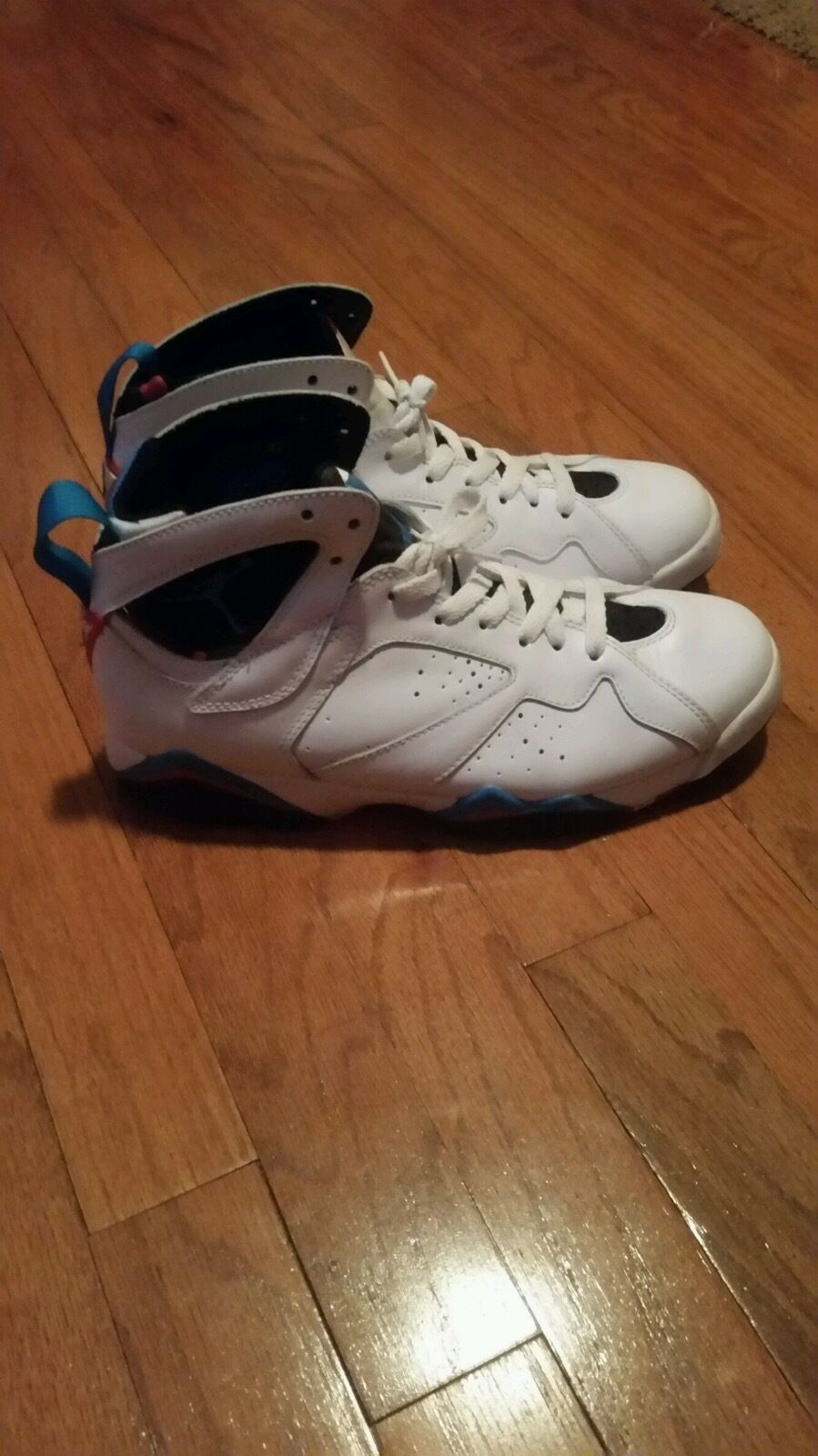 NIKE AIR JORDAN VII Price reduction RETRO WHITE/ORION BLUE/BLACK/INFRARED RED MENS SIZE 8.0 The latest discount shoes for men and women