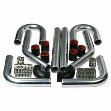2 Inch Universal Aluminum Intercooler Turbo Piping Pipe Kit Siliconeclamp
