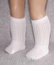 "White Irish Dance Socks fit 15-18"" Doll - American Girl - Bitty Baby - Clothes"