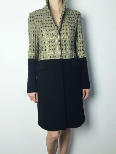Wool Uk6 Navy Ladies 36 Daks Coat Women Winter S Jacket Golden Long New Parka HU6R6t4
