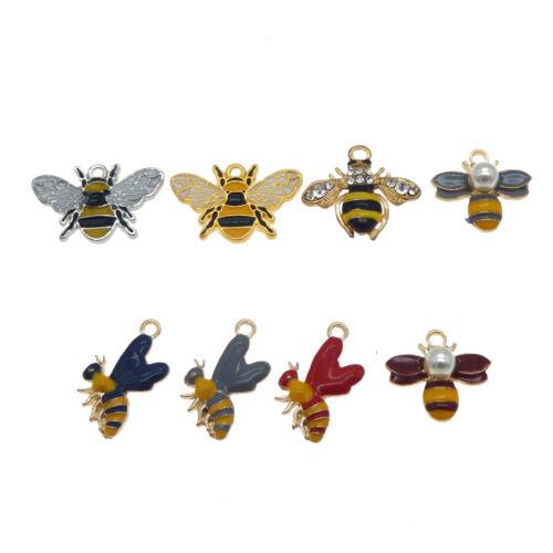 16 Stk Gemischt Emaille Legierung BumbleBee Honig Biene Charms Anhänger Schmuck
