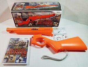 Wii - Cabela'a Big Game Hunter 2010 Bundle - Top Shot Gun & Sealed Game Disk NEW