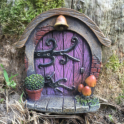Solar Powered LED Fairy Door Garden Ornament Magical Colour Changing Pixies Elf