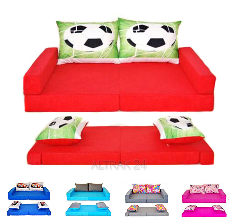 Enfants sofa   bed de mousse Set 3 en 1 + 2pillows, maintenant 23 couleurs