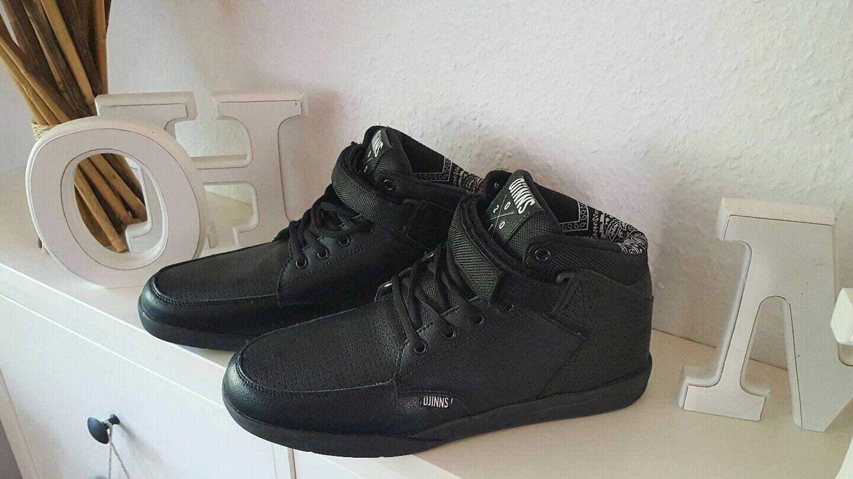 Djinns Herren Jungen Schuhe Wunk Day Leder Leder schwarz Gr. 42 NEU
