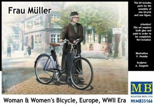 "1//35 Master Box 35166  /""Frau Muller Woman /& Women/'s Bicycle WWII"