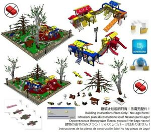 Details about Lego Park Playground Instructions Modular Custom Building  Design City Town