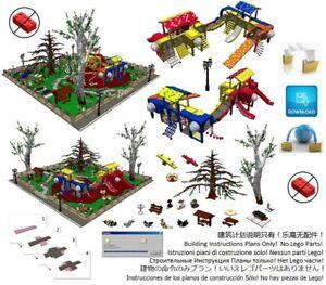 Lego-Park-Playground-Instructions-Modular-Custom-Building-Design-City-Town