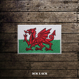 Wales-National-Flag-Embroidered-Iron-On-Sew-On-Patch-Badge-For-Clothes-etc