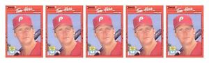 5-1990-Donruss-Learning-Series-16-Tom-Herr-Baseball-Card-Lot-Phillies