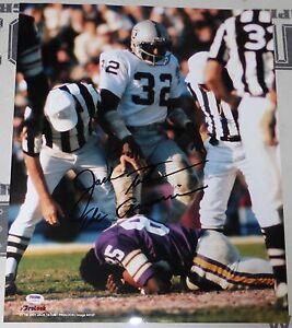 Jack Tatum Signed Raiders Football 16x20 Photo PSA/DNA COA Picture Autograph XI