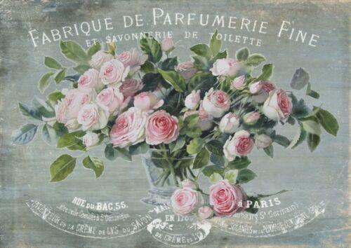 BÜGELBILD-Vintage-Shabby-Nostalgie-French-Rose-Parfümerie-Parfüm-3037