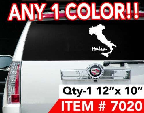 "ITALY ITALIAN ""ITALIA"" WINDOW DECAL STICKER 12"" x 10"""