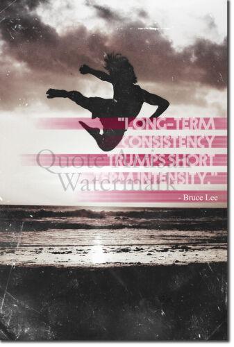 "Photo Poster Motivation Gift Karate Art Print 3 /""Long-term consistency.../"""