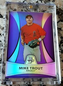MIKE-TROUT-2010-Bowman-Platinum-PURPLE-REFRACTOR-SP-Rookie-Card-RC-Angels-HOT