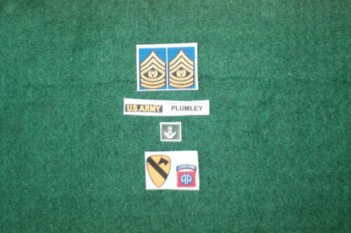 1//6 US Army 7th CAVALRY eravamo SOLDATO SGT plumley Vietnam Patch Major set lotto