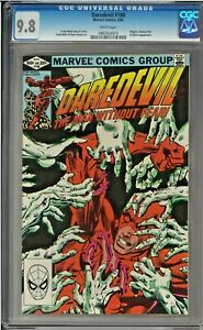 Daredevil-180-CGC-9-8-White-Pages-Electra-Kingpin-app-Frank-Miller-art