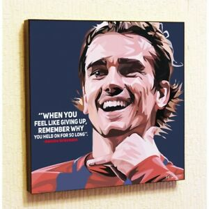 Antoine-Griezmann-Football-Wall-Pop-Art-Poster-Canvas-Print-Painting-Barcelona