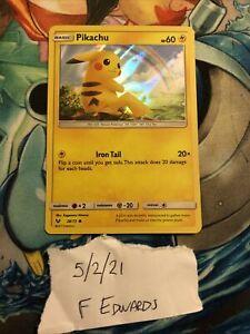New Listing Pikachu 28/73 Common Holo Pokemon Card Sun and Moon Shining Legends