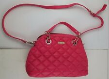 KATE SPADE NEW YORK PINK LEATHER SATCHEL GOLD COAST GEORGINA QUILTED PURSE $398