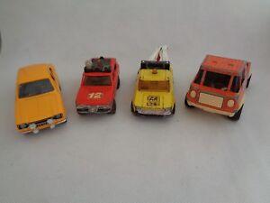 VINTAGE-TOYS-SAICO-FORD-ESCORT-MATCHBOX-SUPERKINGS-Land-Rover-Truck-Set-di-4