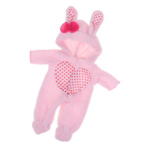 Lovely-Clothes-for-Mellchan-Baby-Doll-9-11in-Doll-Jumpsuit-Rabbit-Hat-Outfit