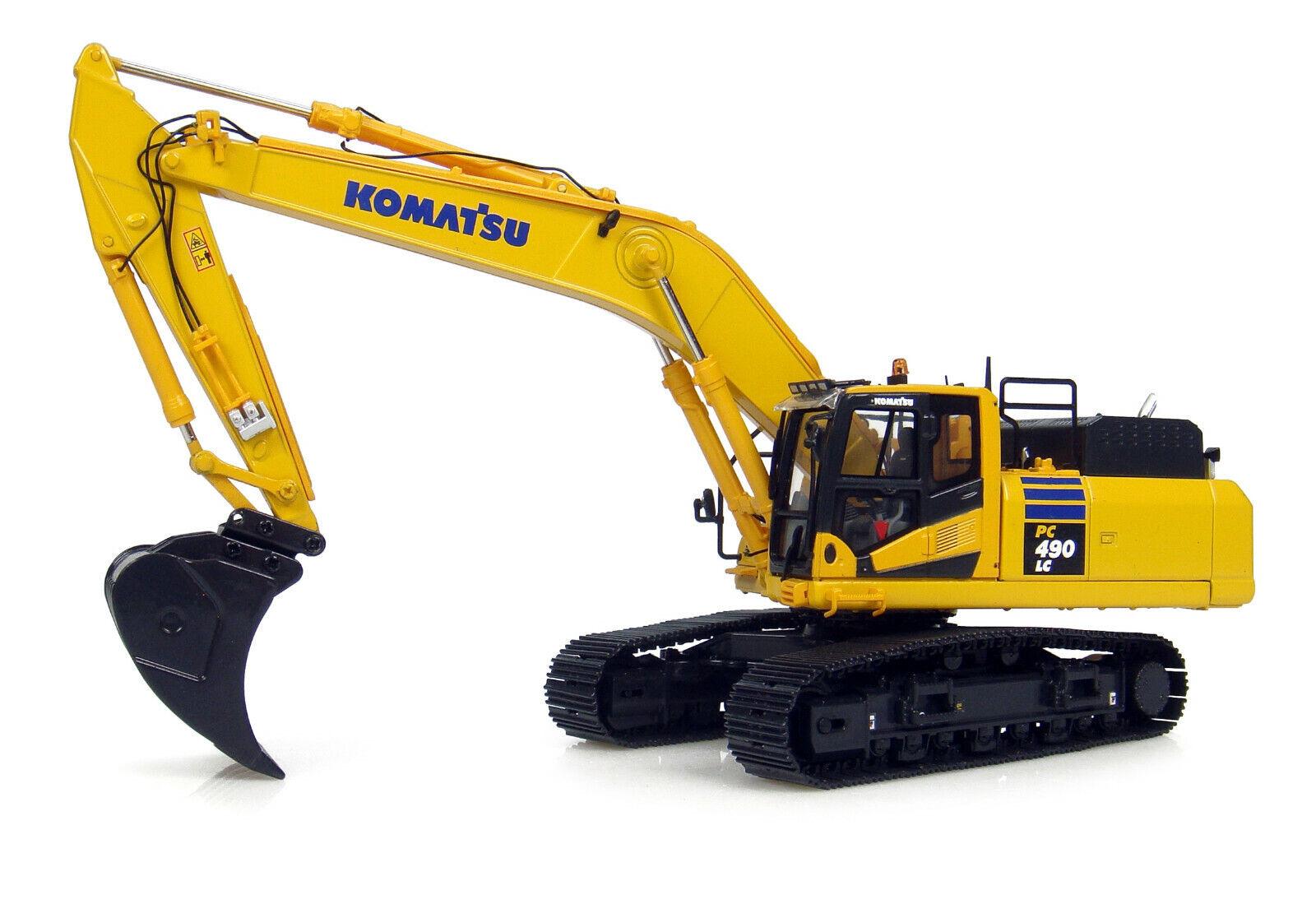 Komatsu PC490LC-10 chenilles Excavatrice 1 50 diecast modèle Universal Hobbies UH8090