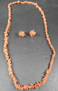 Antique-Rich-Branch-Coral-Necklace-and-Earrings