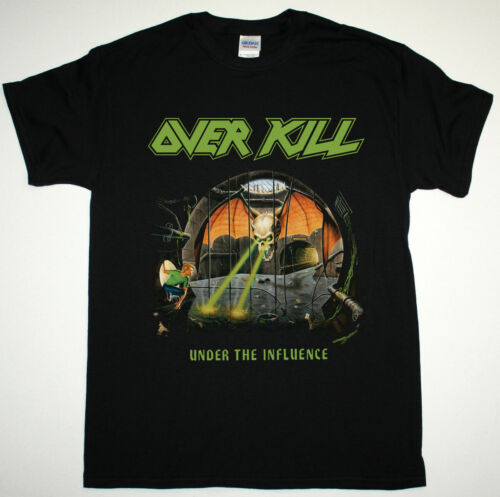 OVERKILL UNDER THE INFLUENCE 1988 THRASH METAL ARTILLERY NEW BLACK T-SHIRT