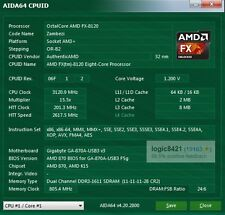 AMD FX-8120 3.1GHz FD8120FRW8KGU AM3+ Eight Core Processor