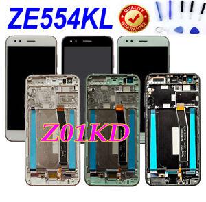 For Asus ZenFone 4 ZE554KL Z01KD SD660 LCD Touch Screen Digitizer Assembly+Frame