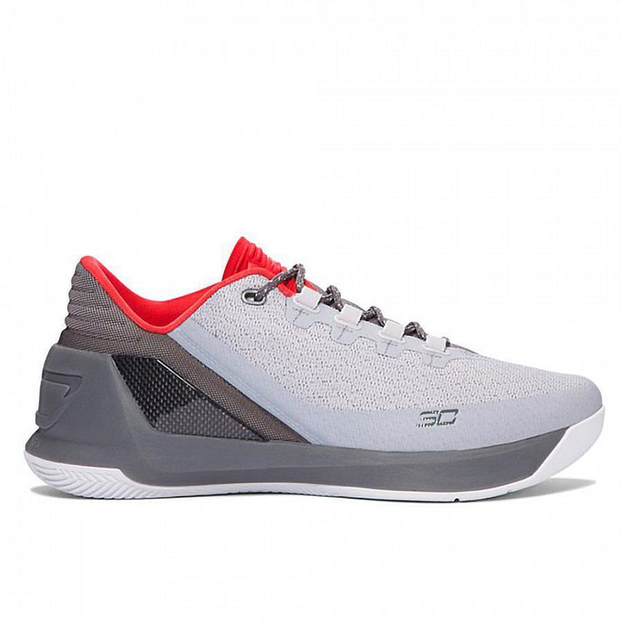 Mens UNDER UNDER UNDER ARMOUR UA CURRY 3 LOW grau Trainers 1286376-289 b86905