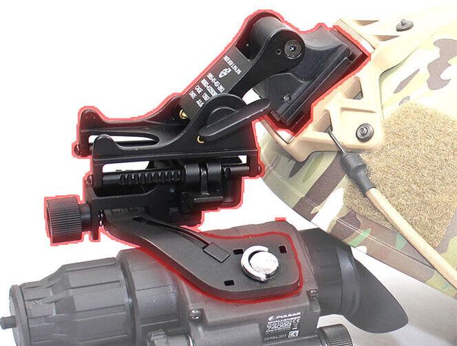 Nuevo casco táctico de metal de aleación de aluminio de montaje y J Brazo Para Pulsar GS1X20 NVG
