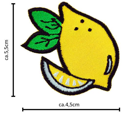 Termo Patch Zitrone Aufbügler Aufnäher Abzeichen Bügelbild Aufnäherbild