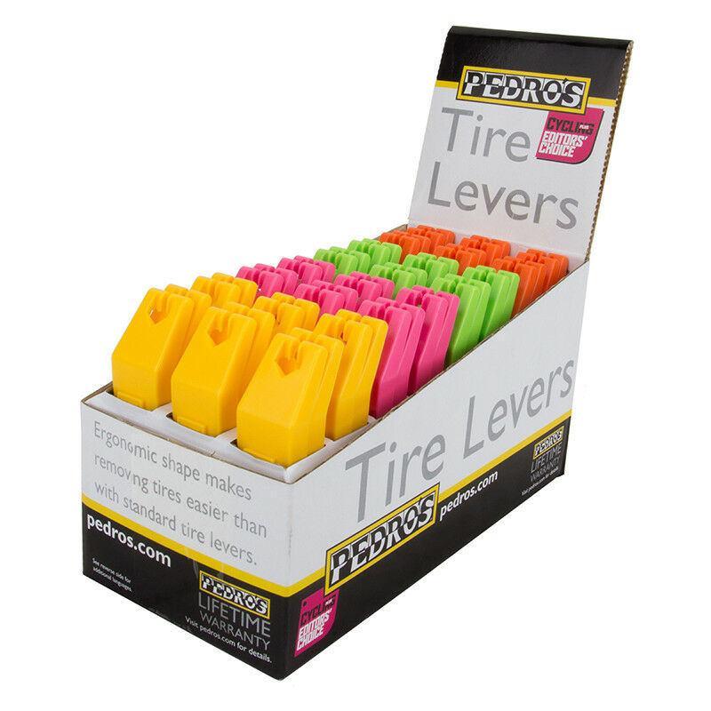 Pedros Display Box Tire Levers Tool Tire Levers Pedros 4-colors Bxof24