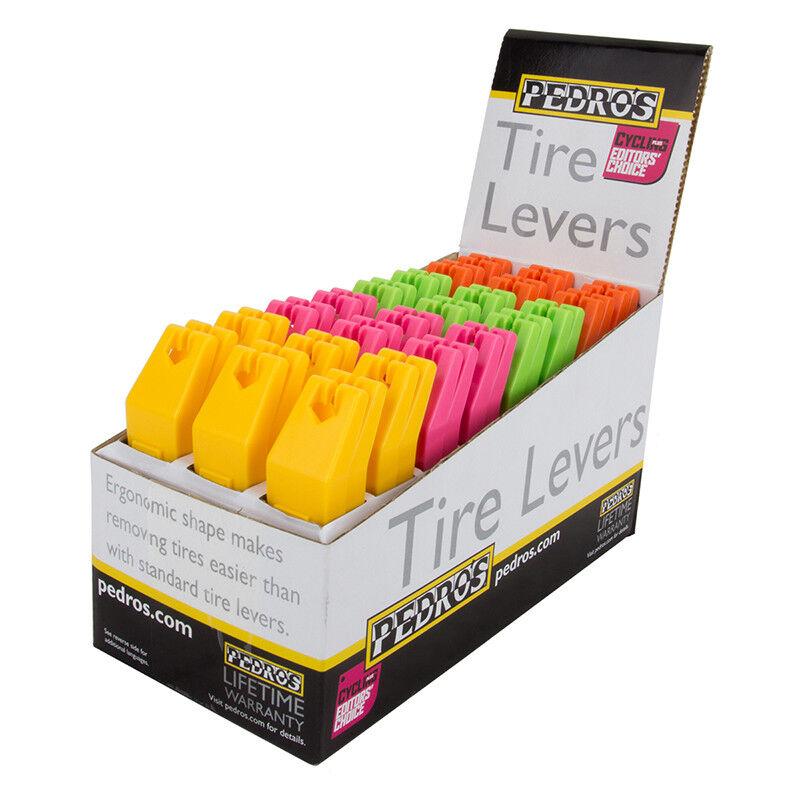 Pedros Neumático Palancas de caja de presentación Herramienta Neumático Palancas Pedros 4 Colors Bxof24