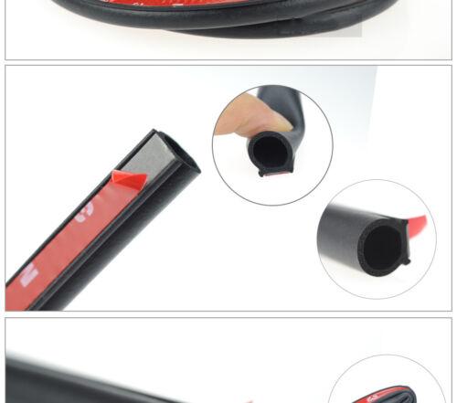 4M Big D-Shape Black Rubber Strip Car Door Edge Trim Moulding Seal Weatherstrip