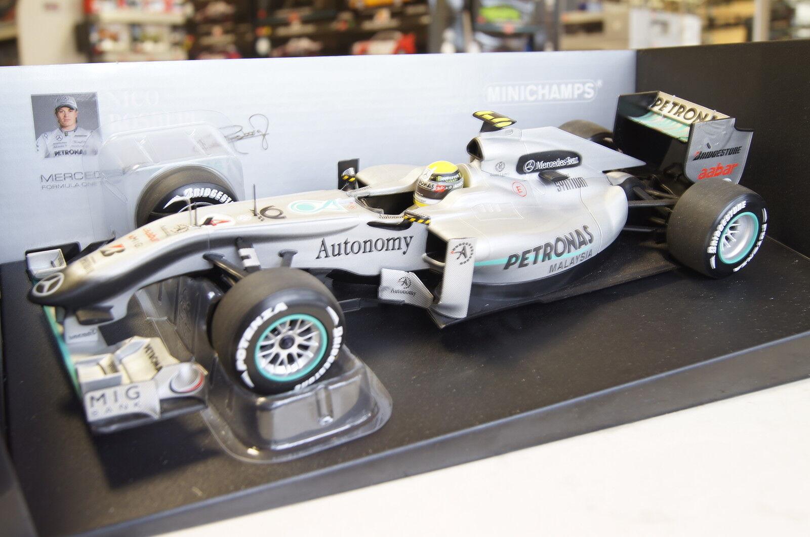 Formel 1 2010 Mercedes GP F1 Team N.Rosberg  4 1 18 Minichamps neu & OVP